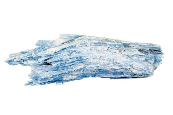 A large Kyanite stone on its side