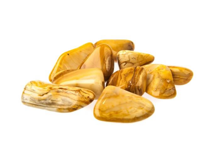 A pile of Yellow Jasper stones
