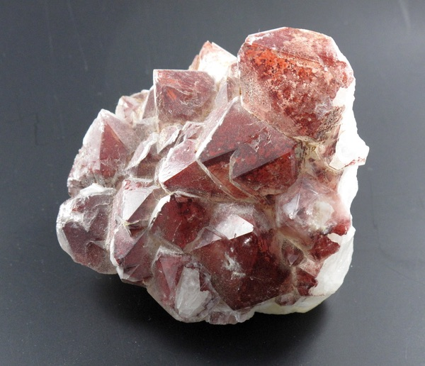 A dirty Red Quartz crystal