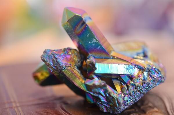 Jagged Titanium Aura Quartz