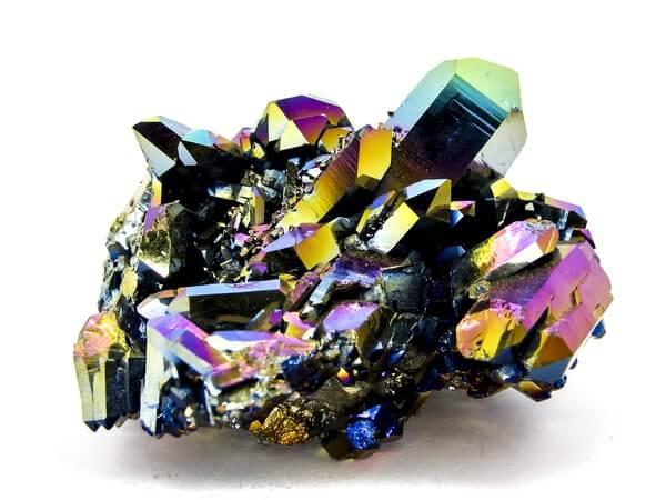 A polished piece of titanium quartz