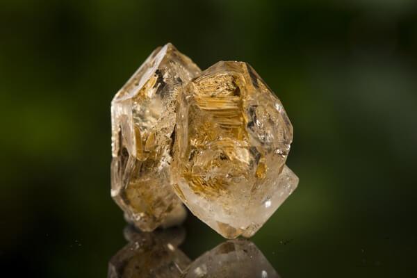 A shiny Elestial Quartz crystal