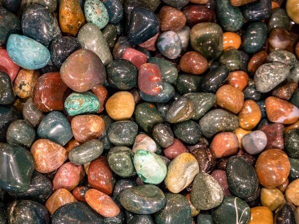 A large pile of Fancy Jasper stones