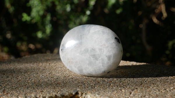 A round piece of White Moonstone
