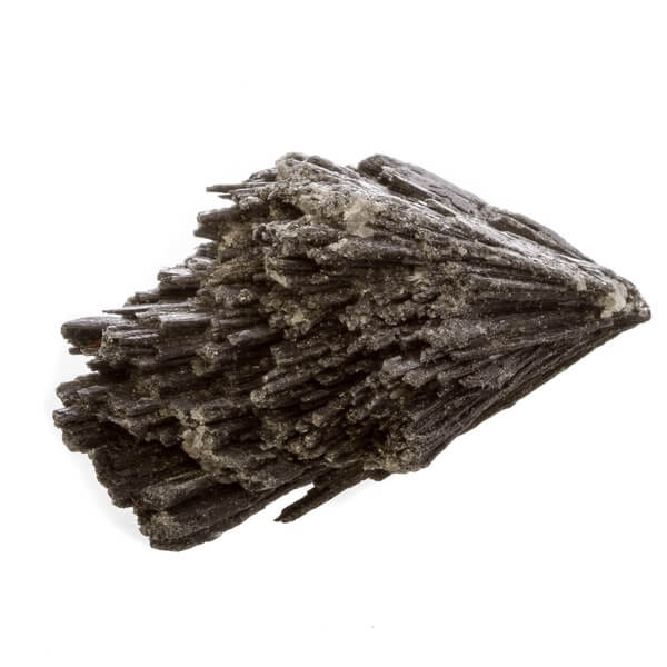 A close up view of a Black Kyanite stone