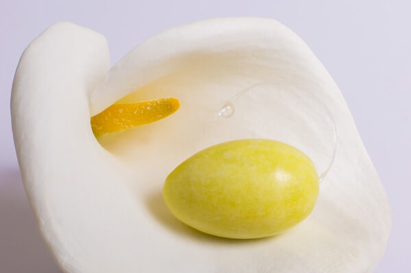 An egg shaped Yellow Jade stone