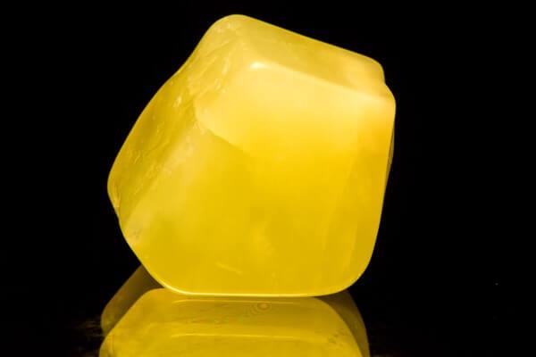 A chunky piece of Yellow Jade