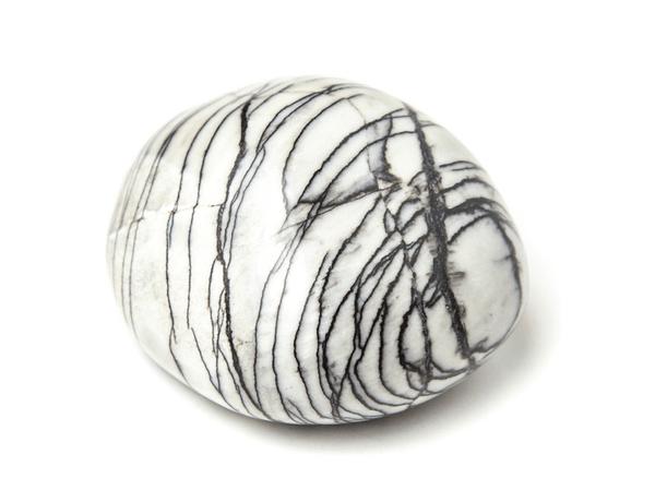 A round piece of Spiderweb Jasper